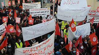 Dans la ville tunisienne de Gafsa, les habitants manifestent pour des emplois
