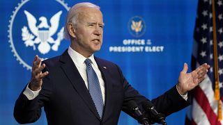 Der gewählte US-Präsident Joe Biden in Washington.