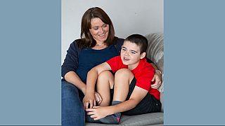 Hannah Deacon and son Alfie Dingley