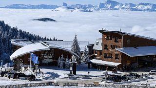 Station de ski de Chamrousse, près de Grenoble, France, 7 janvier 2021