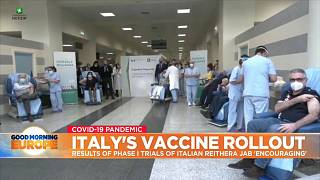 Italians getting first dose of vaccine