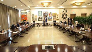 Σύσκεψη με τους αρχηγούς των κομμάτων Προεδρικό Μέγαρο, Λευκωσία, Κύπρος