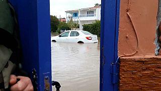 سيول أغرقت الشوارع والطرقات في الدار البيضاء