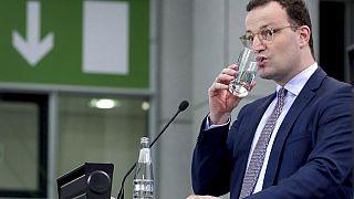 Bundesgesundheitsminister Jens Spahn bei einer Pressekonferenz in Berlin, Deutschland, Mittwoch, 6. Januar 2021