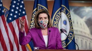 Η πρόεδρος της αμερικανικής Βουλής των Αντιπροσώπων Νάνσι Πέλοζι