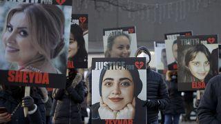 تجمع در گرامیداشت یاد قربانیان سرنگونی هواپیمای مسافربری اوکراینی
