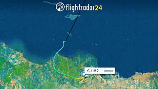 Az SJ182 felszállás utáni útja a radaron