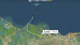 Boeing 737 разбился в Индонезии