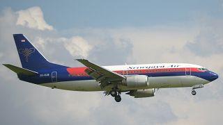 صورة أرشيفية لطائرة تابعة لخطوط شركة سريويجايا الإندونيسية