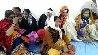 صورة من فيديو مصور لسيدات يبكين بعد حريق اندلع في مستشفى هندي