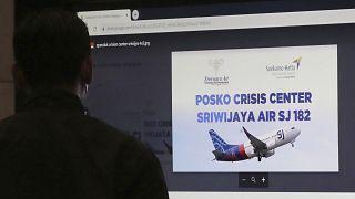 Foto del centro de crisis instalado en el aeropuerto internacional Soekarno-Hatta de Yakarta, Indonesia, el 9 de enero de 2021.