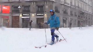 Espanha paralisada pela neve
