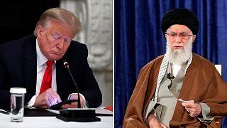 علی خامنهای رهبر ایران و دونالد ترامپ، رئیس جمهوری آمریکا