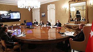 دیدار مجازی رجب طیب اردوغان، رئیسجمهور ترکیه و اورزولا فن در لاین، رئیس کمیسیون اتحادیه اروپا