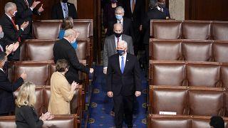 نائب الرئيس الأمريكي مايك بنس في جلسة للكونغرس