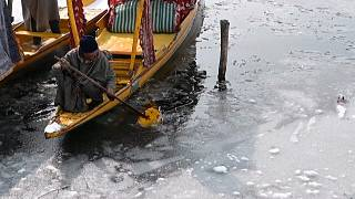 Dal lake freezes