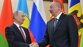 Rusya Devlet Başkanı Vladimir Putin ile Azerbaycan Cumhurbaşkanı İlham Aliyev