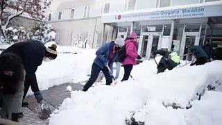 Snow in Spain: Clear up begins after blizzards but ice now posing a major hazard