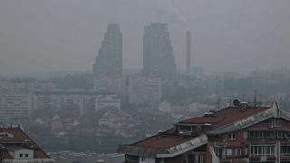 Belgrade sous le smog.