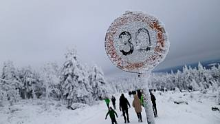 Schnee in Sachsen - Symbolbild