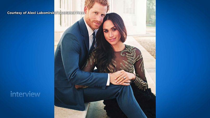 Foto de noivado do príncipe Harry e Meghan Markle