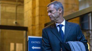 رجل الاعمال الإسرائيلي بيني شتاينمتز يصل إلى المحكمة في جنيف. 2021/01/11