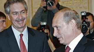 Владимир Путин и экс-посол США Уильям Бернс на встрече президента с дипломатами в Москве, 2007 год.
