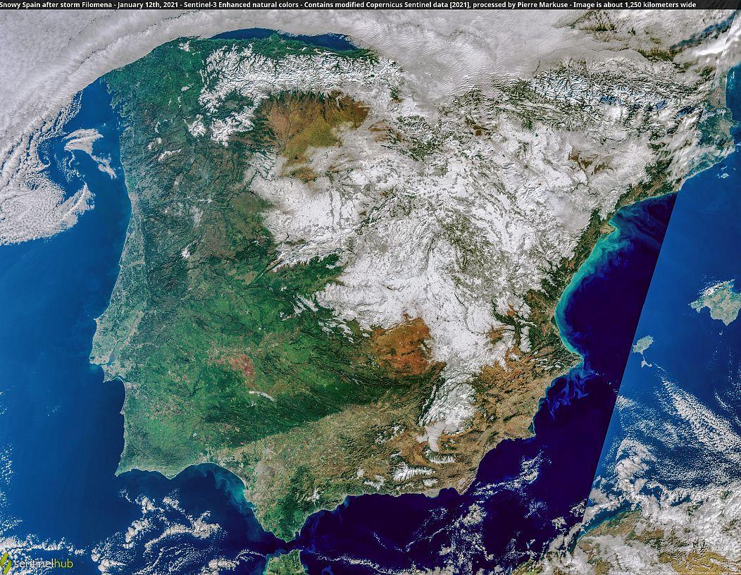 Contiene datos modificados del Copernicus Sentinel [2021], procesados por Pierre Markuse