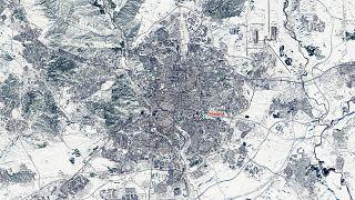 Madrid coperta dalla neve, nelle foto del satellite Sentinel 2