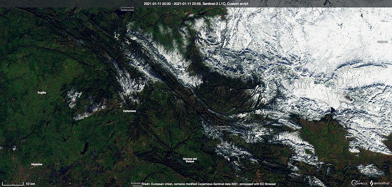 euronews/ Sentinel Hub / DG de la Industria de la Defensa y el Espacio, Comisión Europea
