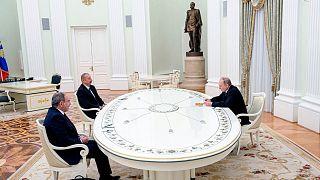 رییس جمهور روسیه میزبان رییس جمهور آذربایجان و نخست وزیر ارمنستان بود تا در خصوص صلح قره باغ گفتگو کنند
