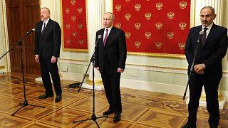 Rusya'da Putin, Aliyev ve Paşinyan ile Karabağ meselesini görüştü