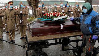 مراسم خاکسپاری یانکو توکارمان