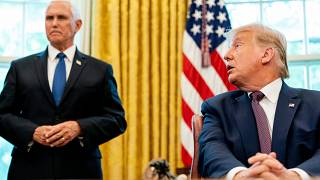 USA: Vice President Mike Pence and President Donald Trump