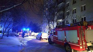 Пожар в жилом доме в Екатеринбурге.