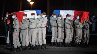 Mali'de 2 Ocak'ta hayatını kaybeden 2 Fransız asker için 8 Ocak'ta Haguenau'da cenaze töreni düzenlendi