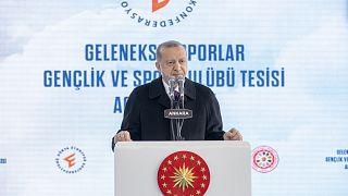 Cumhurbaşkanı Erdoğan, Geleneksel Sporları Tesisi'nin açılış töreninde konuştu