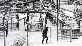 """На территории лагеря """"Липа"""" после пожара. 11 января 2021"""