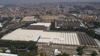 A Ford egyik üzeme Sao Bernardo do Campóban 2020. március 12-én