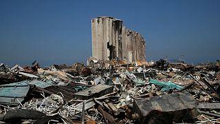 بقایای انفجار اوت ۲۰۲۰ در بندر بیروت