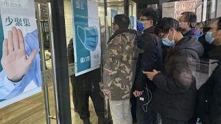 Очередь на вакцинацию в Пекине