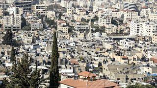 منظر عام لمخيم جنين للاجئين الفلسطينيين