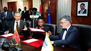 Assinatura do acordo tripartido (Angola, UE, FMI) do projeto de apoio à Gestão das Finanças Públicas a Angola, em Luanda, Angola, 10 de dezembro