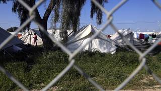 In this file photo dated Tuesday, March 3, 2020, showing tents inside a refugee camp outside of Nicosia, Cyprus.