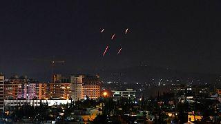 الدفاعات الجوية السورية ترد على صواريخ إسرائيلية استهدفت جنوب العاصمة دمشق، 20 تموز/ يوليو 2020