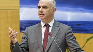 Gesundheitsminister Berset im Oktober: Er drängt jetzt auf einen harten Lockdown.