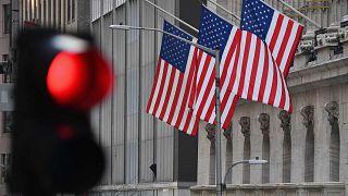 بورصة نيويورك في وول ستريت  في مدينة نيويورك، 12 يناير 2021