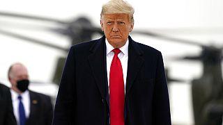 Donald Trump leköszönő amerikai elnök, Texas, USA, 2021. január 12.