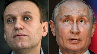 المعارض الروسي أليكسي نافالني والرئيس الروسي فلاديمير بوتين