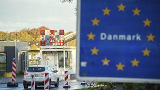 Deutsch-dänischer Grenzübergang bei Flensburg im Oktober